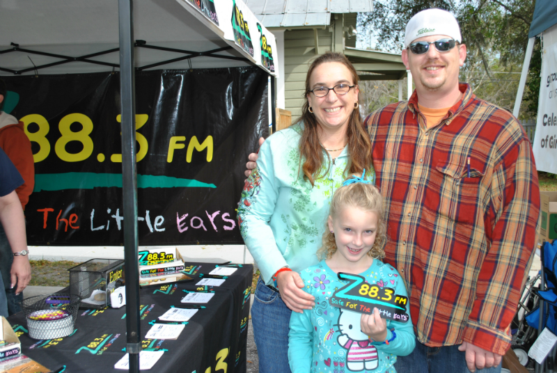 The Beard family stopped by the Z88.3 booth to pick up a new Z88.3 bumper sticker