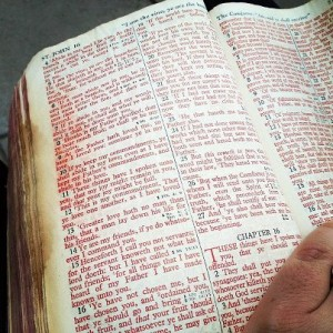 The red letters in my Daddy's Bible